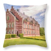 Palsjo Slott Painting Throw Pillow by Antony McAulay