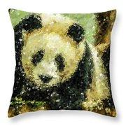 Panda Throw Pillow by Lanjee Chee