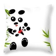 Panda Mom With A Baby Throw Pillow by Ausra Paulauskaite