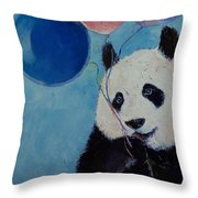 Panda Party Throw Pillow by Michael Creese