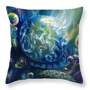 Pangaea Throw Pillow by Kd Neeley
