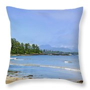 Panorama of Pacific coast on Vancouver Island Throw Pillow by Elena Elisseeva