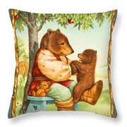 Papa Bear Throw Pillow by Lynn Bywaters