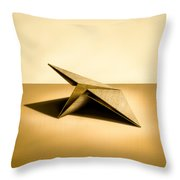 Paper Airplanes of Wood 7 Throw Pillow by Yo Pedro