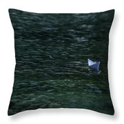 Paper Boat Throw Pillow by Joana Kruse
