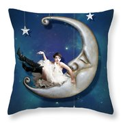 Paper Moon Throw Pillow by Linda Lees