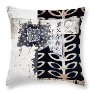 Papers Throw Pillow by Carol Leigh
