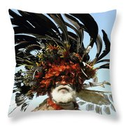 Papua New Guinea, Portrait Throw Pillow by Jeremy Hunter