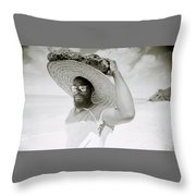 Paradise Island Throw Pillow by Shaun Higson