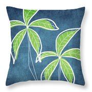 Paradise Palm Trees Throw Pillow by Linda Woods
