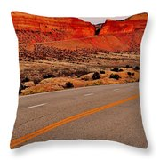 Parallel Lines Throw Pillow by Benjamin Yeager