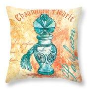 Parfum Throw Pillow by Debbie DeWitt