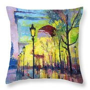 Paris Arc De Triomphie  Throw Pillow by Yuriy  Shevchuk
