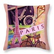 Paris  Throw Pillow by Eloise Schneider
