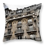 Paris Hotel Throw Pillow by Evie Carrier