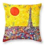 Paris In Sunlight Throw Pillow by Ana Maria Edulescu