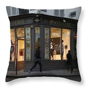 Parisian Evolution Throw Pillow by Randi Shenkman