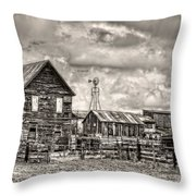 Parker Homestead Throw Pillow by Ken Smith