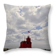 Partly Cloudy Throw Pillow by Michelle Calkins