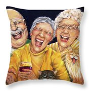 Party Pooper Throw Pillow by Shelly Wilkerson