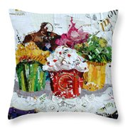Party Time Throw Pillow by Suzy Pal Powell