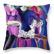 Pas De Deu Throw Pillow by Ted Azriel