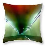 Passage Through The Mountain Throw Pillow by Angelina Vick