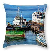 Passenger And Cargo Crafts Throw Pillow by Ester  Rogers