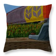 Passing The Wild Ones Throw Pillow by Anthony Dunphy