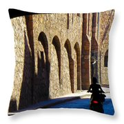 Past And Present Throw Pillow by Douglas J Fisher
