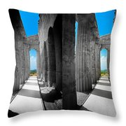 Past Present 2 Throw Pillow by Madeline Ellis