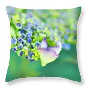 Pastel Buds Throw Pillow by Kaye Menner