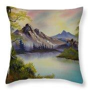Pastel Skies Throw Pillow by C Steele