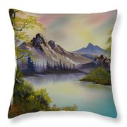 Pastel Skies Throw Pillow by C Steele
