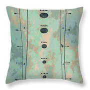 Patent Art Baseball Bat Throw Pillow by Dan Sproul