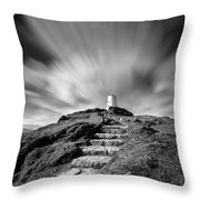 Path to Twr Mawr Lighthouse Throw Pillow by Dave Bowman