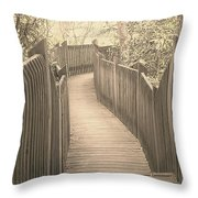 Pathway Throw Pillow by Melissa Petrey