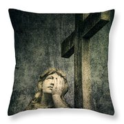 Patience In Pain Throw Pillow by Andrew Paranavitana