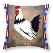Patrick Patriotic Throw Pillow by Linda Mears