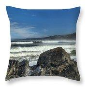 Patrick's Rocks Throw Pillow by Adam Jewell