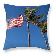 Patriot Keys Throw Pillow by Carey Chen