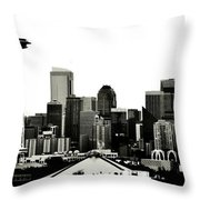 Patriotic Seattle Throw Pillow by Benjamin Yeager