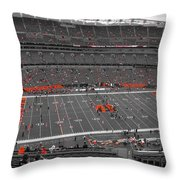 Paul Brown Stadium Throw Pillow by Dan Sproul
