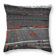 Paul Brown Stadium Throw Pillow by Dan Sproul