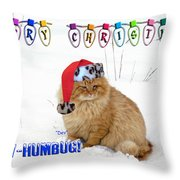 Paw Humbug Throw Pillow by Robyn Stacey