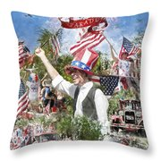 Pawleys Island 4th Of July Throw Pillow by Alan Sherlock