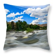 Payette River Throw Pillow by Robert Bales