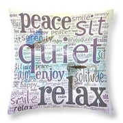 Peace And Quiet 2 Throw Pillow by Terry Fleckney