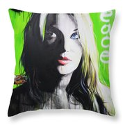 'Peace' Throw Pillow by Christian Chapman Art