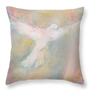 Peace Dove Throw Pillow by Anne Cameron Cutri